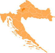 ザグレブの位置