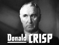 Donald Crisp. Source: Wikipedia