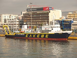 vessel Aegaeo IMO: 8412429, Research Vessel